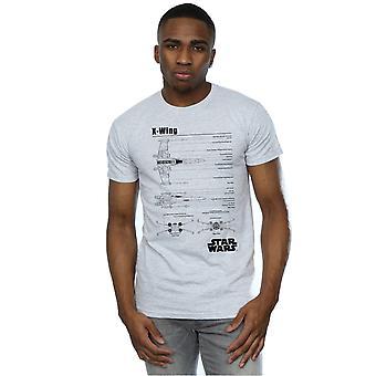 Star Wars Men's X-Wing Blueprint T-Shirt