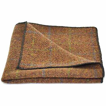 Heritage Check Cedar Brown Pocket Square, Handkerchief