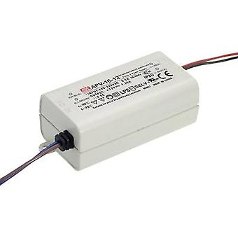 LED transformer Constant voltage Mean Well APV-16-12 15 W (max)