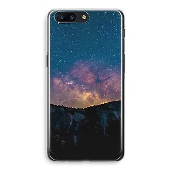 OnePlus 5 Transparant Case - Travel to space