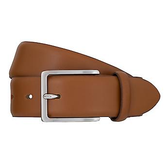 Las correas Bugatti cinturones cuero cinturones de hombres de cuero Cognac correa 2463