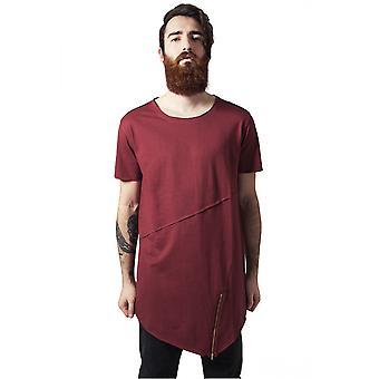 Urban classics camiseta largo abierto borde cremallera t