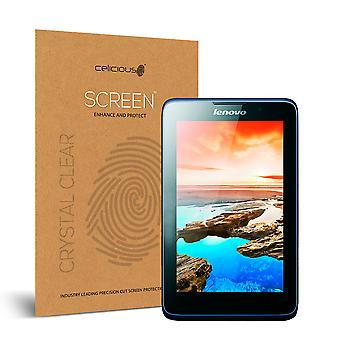 Celicious Vivid Invisible Glossy HD Screen Protector Film Compatible with Lenovo A7-50 A3500 [Pack of 2]