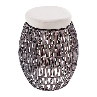 Rattan Hocker 2Er Set Outdoor Möbel Gartenmöbel Braun