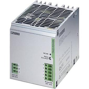 Phoenix Contact TRIO-PS/1AC/24DC/20 Rail mounted PSU (DIN) 24 Vdc 20 A 480 W 1 x