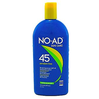 No-ad Sunscreen Lotion, Water Resistant, Spf 45, 16 Oz