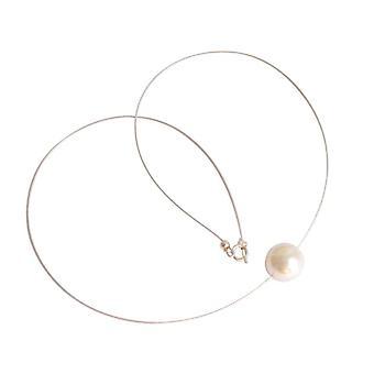 Shell core Pearl Halskæde 925 sølv DORA MAE hvid perlekæde