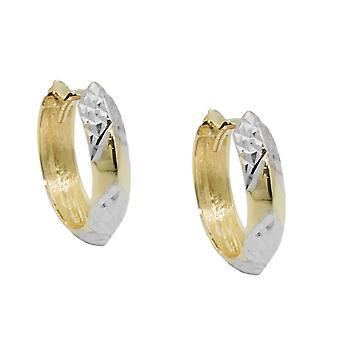 14x3mm criolla tapa bisagra Cantina 9Kt bicolor oro diamantiert