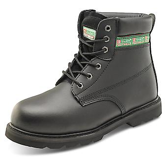 Click Goodyear Welted Safety Boot With Midsole. Black - Gwbms