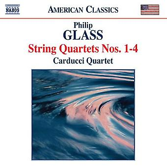 P. glas - Philip Glass: String Quartets nummer 1-4 [CD] USA import