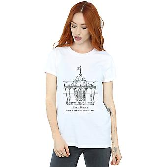Disney Women's Mary Poppins Carousel Sketch Boyfriend Fit T-Shirt