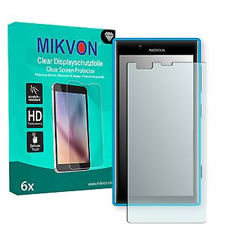 Nokia Lumia 720 Screen Protector - Mikvon Clear (Retail Package with accessories) (reduced foil)