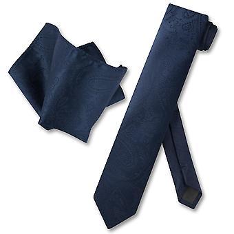 Vesuvio Napoli dünne Krawatte Paisley Herren Krawatte & Taschentuch
