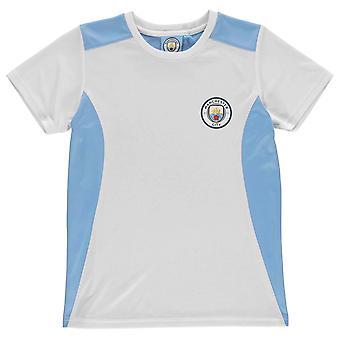 Source Lab Kids Boys Machester City T Shirt Junior Short Sleeve Performance Tee