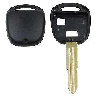 2 Knop Afstandsbediening Autosleutel Shell Case Voor Toyota Yaris Corolla Hiace Met Toy 41 Blade Vervanging Fob Cover
