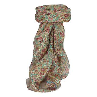 Mulberry Silk Traditional Square Scarf Irma Ivory by Pashmina & Silk