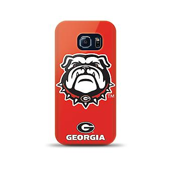 Mizco Sports NCAA Oversized Snapback TPU Case for Samsung Galaxy S6 Edge (Georgi