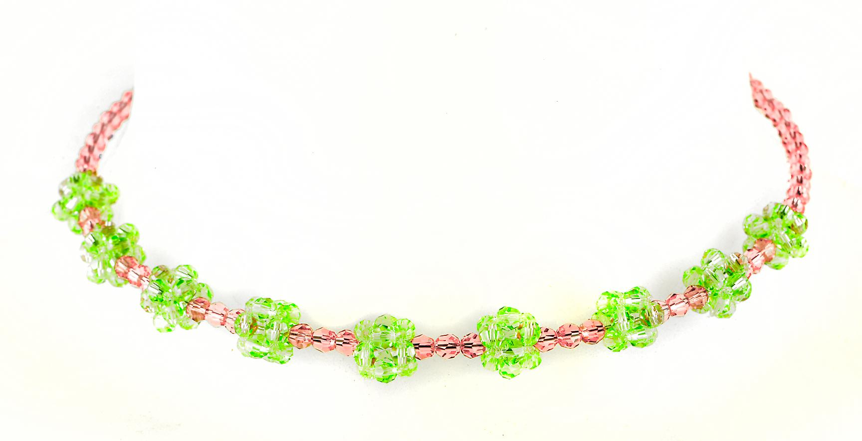 Waooh - Fashion Jewellery - WJ0289 - Necklace with Swarovski Green & Red