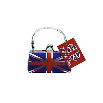 Union Jack tragen Mini Lederhandtasche Look Union Jack