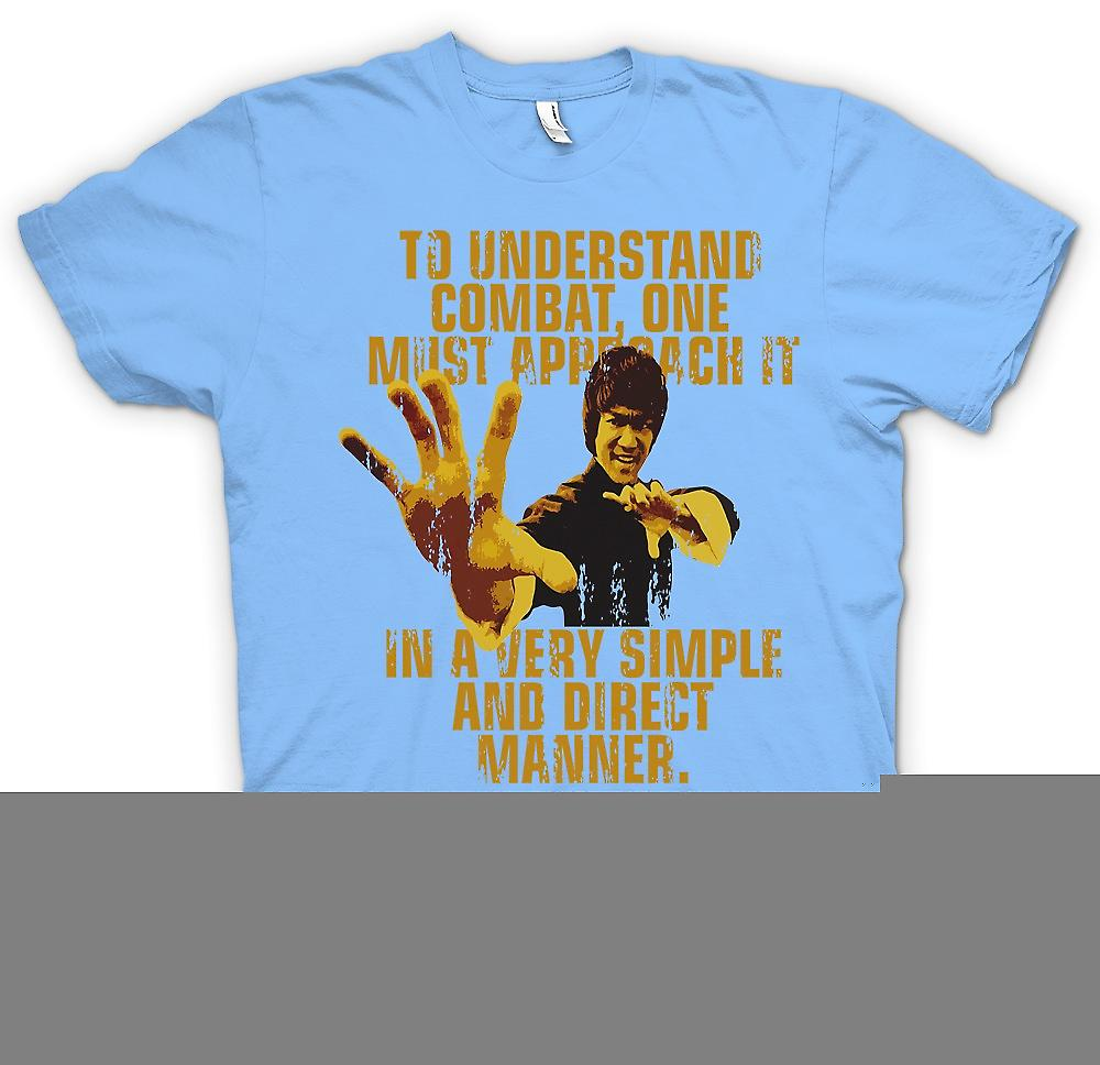 Mens T-shirt - Bruce Lee Quote - To Understand Combat One Must Approach