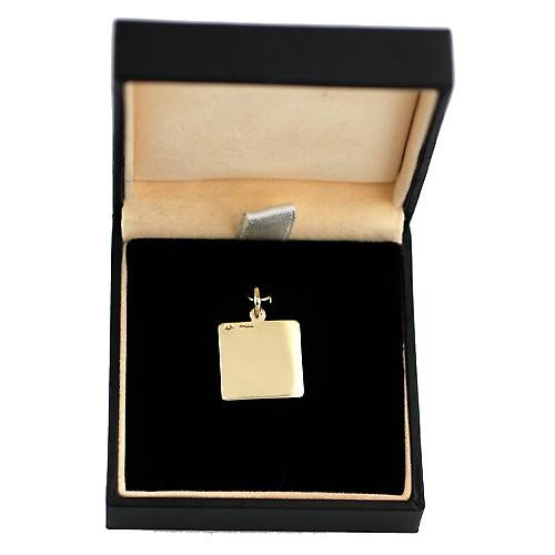 9ct Gold 17x17mm square St Christopher