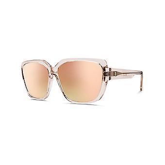 Electric Nude Crystal-Ohm Champagne Chrome Gradient Honey Bee Womens Sunglasses