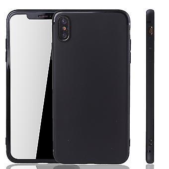 Apple iPhone XS Max móvil vivienda Schutzcase contraportada bolsa funda negro