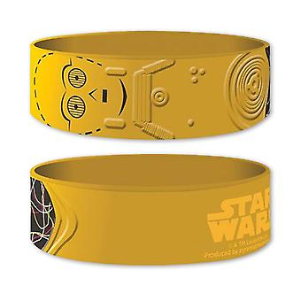 Braccialetto del silicone di Star Wars C-3PO
