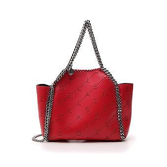 Stella Mccartney Falabella Red Faux Leather Shoulder Bag