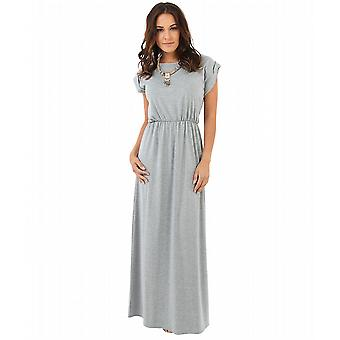 KRISP Turn Up Sleeve Maxi Dress