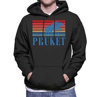 Phuket Retro 70s Sunset Men's Hooded Sweatshirt