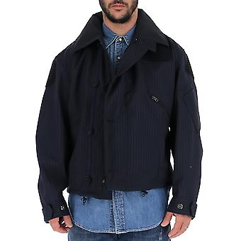 Junya Watanabe Blue Polyester Outerwear Jacket
