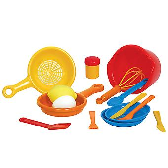 Gowi Toys Pretend Play Cook Set Pretend Roleplay Kitchen Accessories