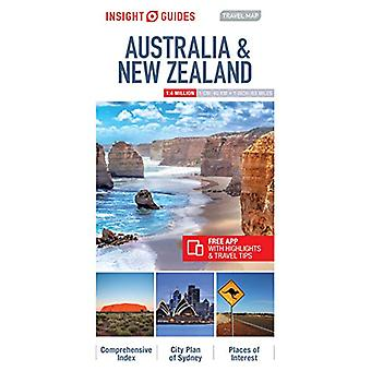 Insight Travel Map Australia & New Zealand by Insight Guides - 978178