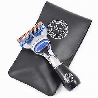 Executive Shaving Company Travel Fusion Razor and Pouch