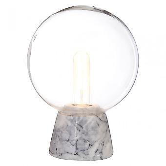 Premier Home LaMonte grå marmor Base/EU Plug Globe lampa, glas, marmor, grå