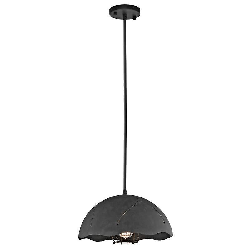 1 Light Dome Ceiling Pendant Weatherouge Zinc
