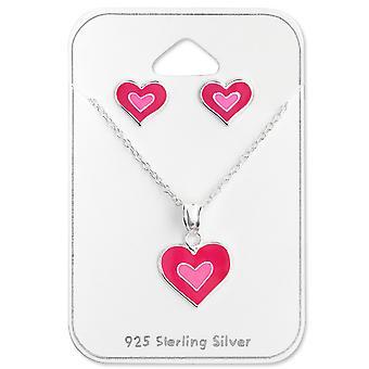 Herz - 925 Sterling Silber Sets - W28978X