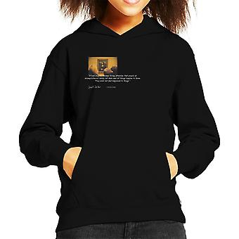 A.P.O.H Leonardo Da Vinci Mona Lisa People Of Accomplishment Quote Kid's Hooded Sweatshirt