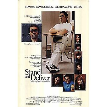 Stand And Deliver (1988) Original Cinema Poster