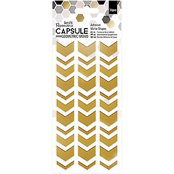 Papermania Geometric Mono Adhesive Mirror Shapes 33/Pkg-Chevrons PM351702
