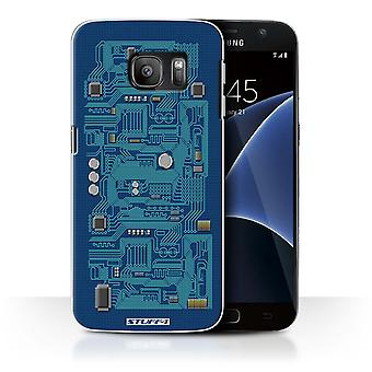 STUFF4 Case/Cover for Samsung Galaxy S7/G930/Blue/Circuit Board
