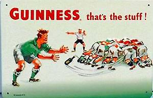 Guinness Rugby Embossed Steel Sign 300mm x 200mm   (hi)