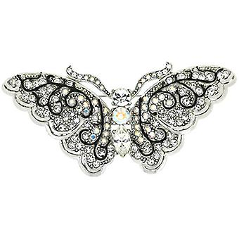 Brooches Store Silver Clear and AB Swarovski Crystal Butterfly Brooch