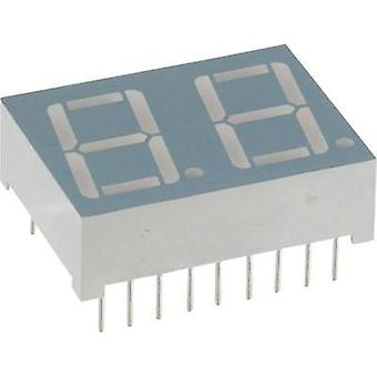 Seven-segment display Green 14.2 mm 2.2 V No. of digits: 2
