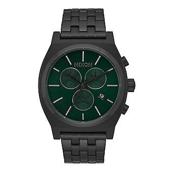 Nixon Time Teller Crono tutto nero / verde Sunray (A9722399)