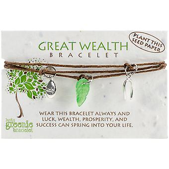 Greenie Bracelet 1/Pkg-Wealth GB-272