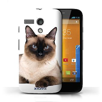 STUFF4 Case/Cover for Motorola MOTO G (2013)/Siamese/Cat Breeds