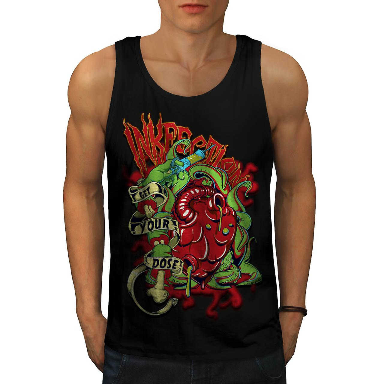 Ink Infection Tattoo Death Dose Men Black Tank Top | Wellcoda