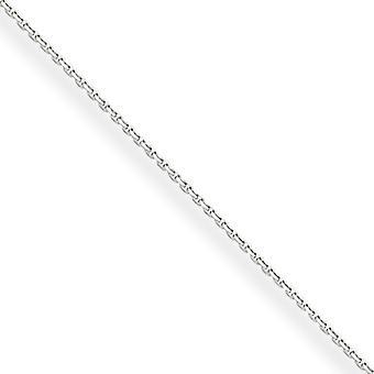 10 k de ouro branco polido 5mm sólido Sparkle-corte cabo colar - comprimento: 14 a 24